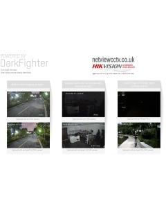 8MP DS-2CD2386G2-IU 2.8mm 110° Acusense Darkfighter IP Turret Camera with Microphone Black