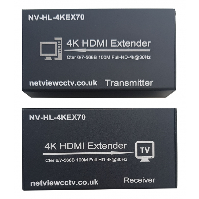Netview 4K NV-HL-HDMI-4KEX70 HDMI Extender over Cat5e or Cat6 with IR Front