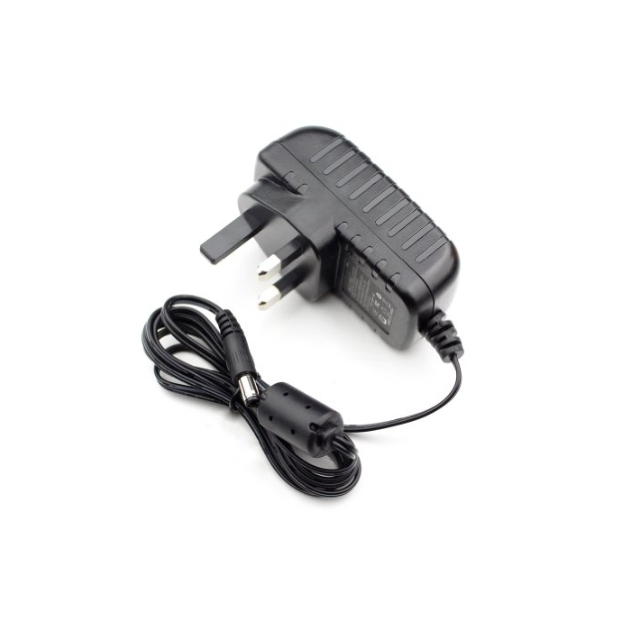 1-Way 2A (24W) 12V DC UK Plug In Power Supply for CCTV Cameras