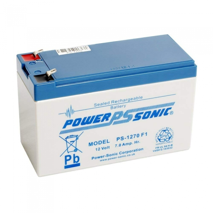 PowerSonic PS1270VDS 12v 7Ah rechargeable SLA Battery
