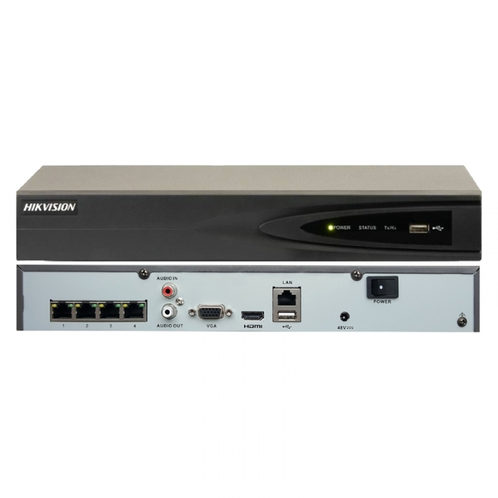 4 Channel DS-7604NI-K1/4P(B) 4x8MP PoE Hikvision NVR