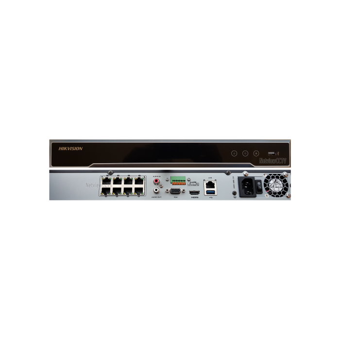 HIKVISION DS-7608NI-K2//8P 8CH Plug /& Play 4K NVR H.265 Network Video Recorder