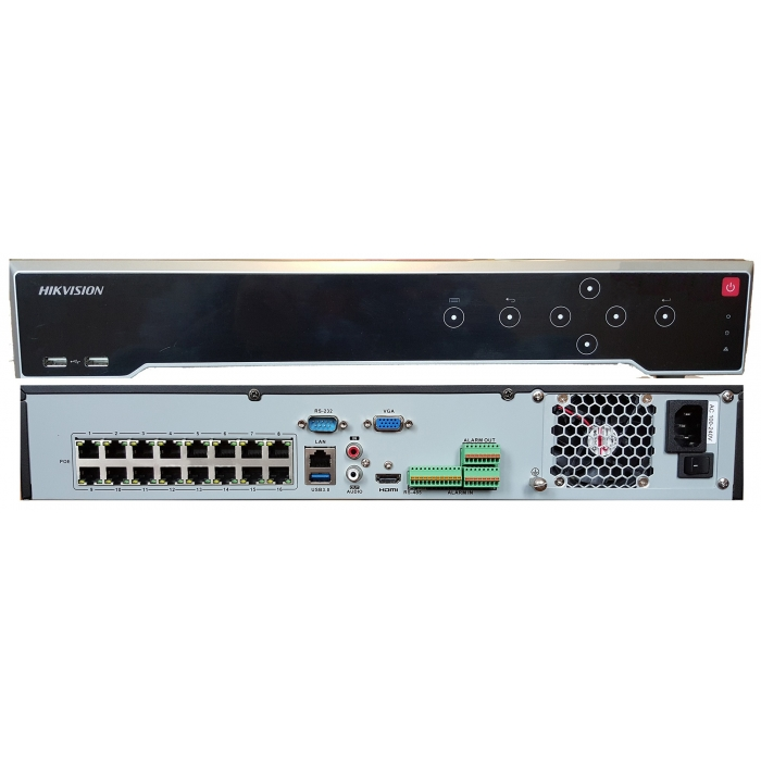 16 Channel DS-7716NI-K4/16P 16CHx8MP 16xPoE Hikvision 4K NVR