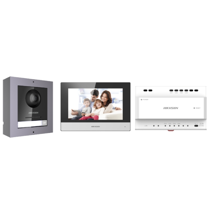 2MP Hikvision DS-KIS702 2-Wire IP Video Intercom Kit