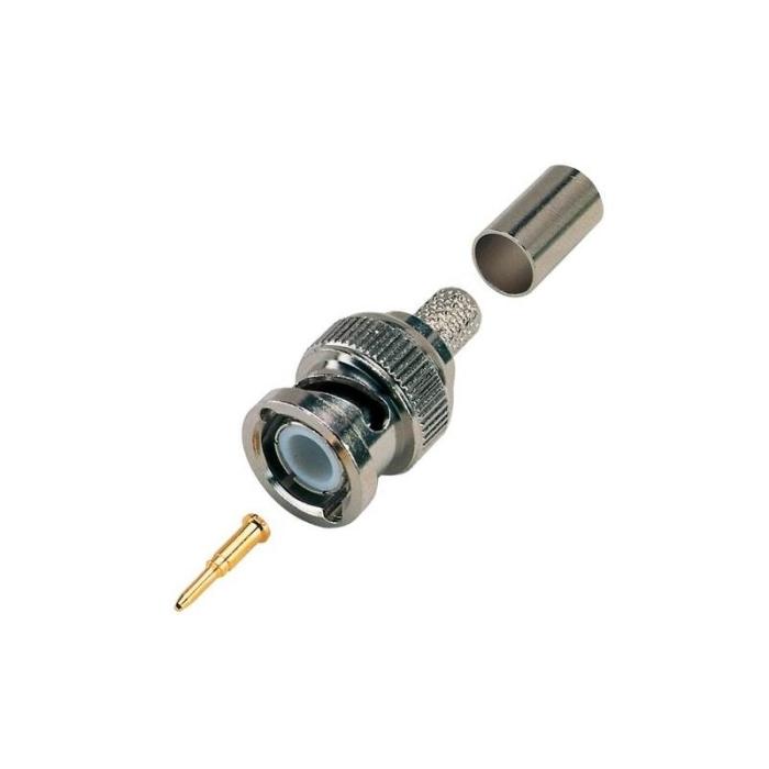 Professional 3pc BNC Crimp Connectors for RG59 Coax CCTV Cable