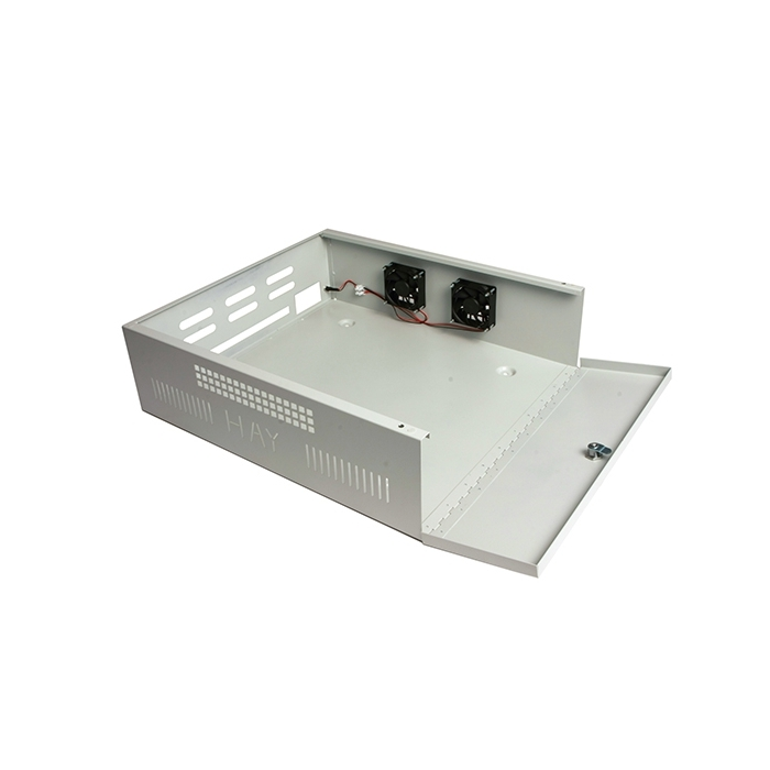 Haydon Large Lockable Steel DVR NVR Enclosure with Fans 565*510*170mm LDVR3-F