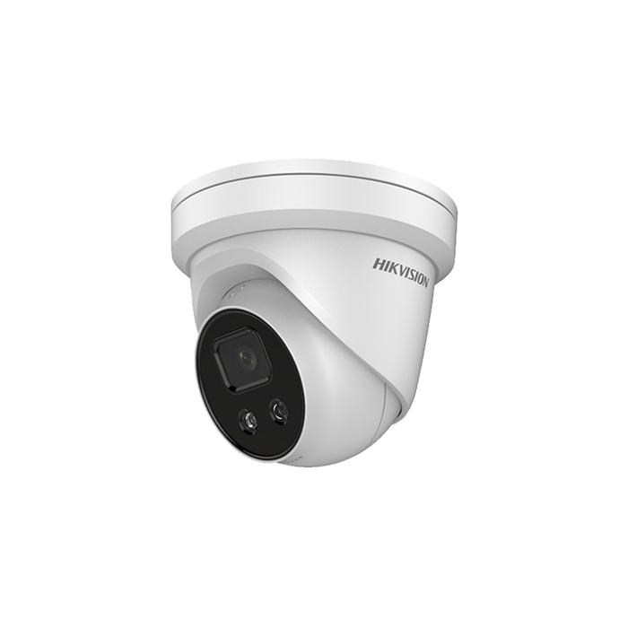 4MP DS-2CD2346G2-IU Hikvision AcuSense Darkfighter 4mm 83° IP Turret Camera with Microphone