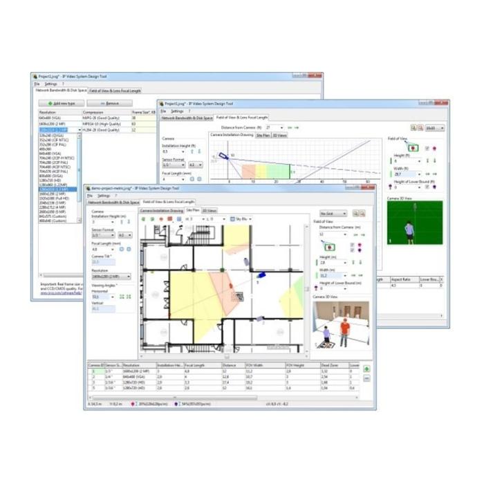 JVSG CCTV Design & Planning Software incl Hikvision Cameras Screenshot