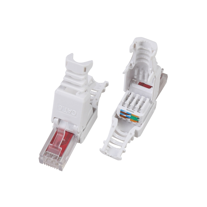 NV-EAG-P284L Cat6 UTP RJ45 Tool-less Plug/Crimp for UTP Cat 6 Cable