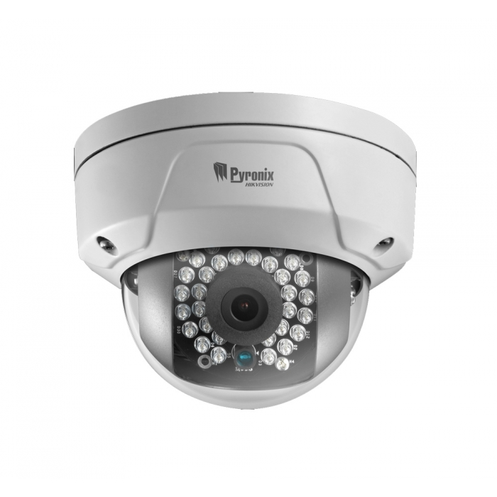 2MP Pyronix 1080P 6mm 54° Outdoor Vandal Dome Camera with WiFi