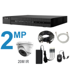 4 Channel DVR Kit with 2MP Cameras with 20m IR