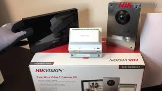 Hikvision DS KIS701 2-wire Video intercom Bundle